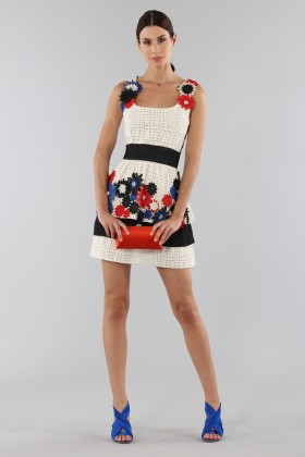 Embroidered dress with applied flowers - Emanuel Ungaro - Sale Drexcode - 1