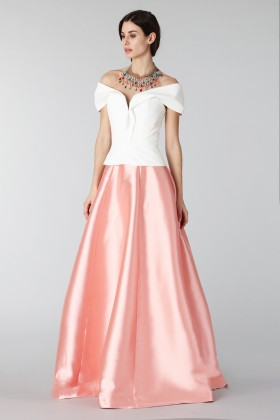 Complete pink skirt and white silk top - Tube Gallery - Rent Drexcode - 2