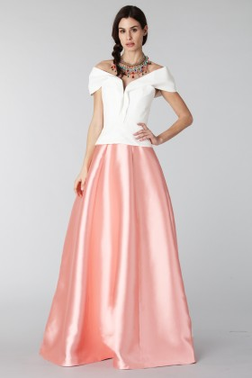 Complete pink skirt and white silk top - Tube Gallery - Rent Drexcode - 1