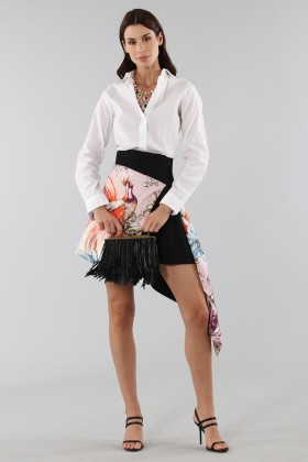 Asymmetric skirt with print - Fausto Puglisi - Rent Drexcode - 1