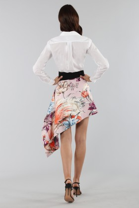 Asymmetric skirt with print - Fausto Puglisi - Rent Drexcode - 2