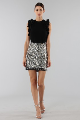 Sequins and rhinestones skirt - Aquilano Rimondi - Rent Drexcode - 1