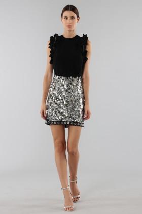 Sequins and rhinestones skirt - Aquilano Rimondi - Rent Drexcode - 1