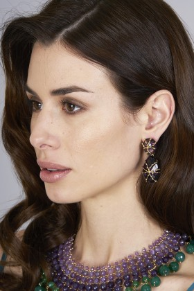 Purple earrings - Rosantica - Rent Drexcode - 1