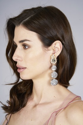 Earrings in silver sequins  - Shourouk - Rent Drexcode - 2