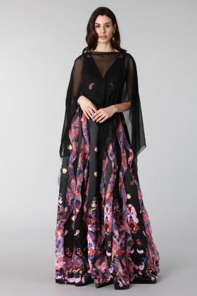 Black chiffon dress - Alberta Ferretti - Rent Drexcode - 1