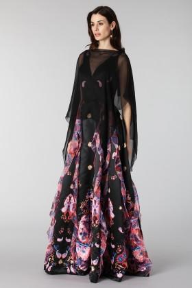 Black chiffon dress - Alberta Ferretti - Rent Drexcode - 2