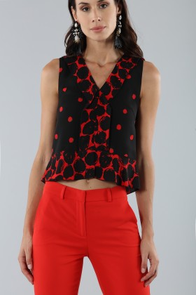 Short polka dot top  - Proenza Schouler - Sale Drexcode - 2