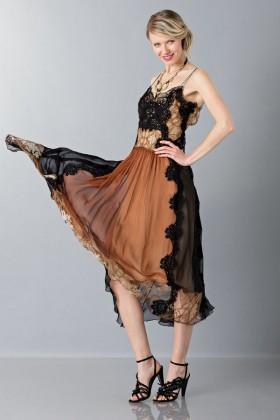 Lace and silk dress - Alberta Ferretti - Rent Drexcode - 1