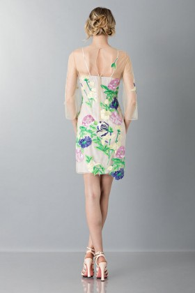Short dress with flowers and patterns - Blumarine - Sale Drexcode - 2