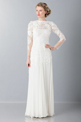 Embroidered wedding dress - Alberta Ferretti - Rent Drexcode - 1