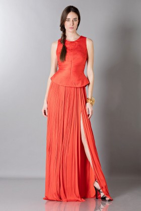 Red dress with back neckline - Maria Lucia Hohan - Rent Drexcode - 1
