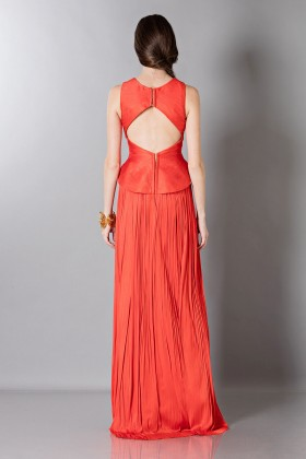 Red dress with back neckline - Maria Lucia Hohan - Rent Drexcode - 2