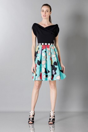 Patterned dress with boat neck - Antonio Marras - Rent Drexcode - 1