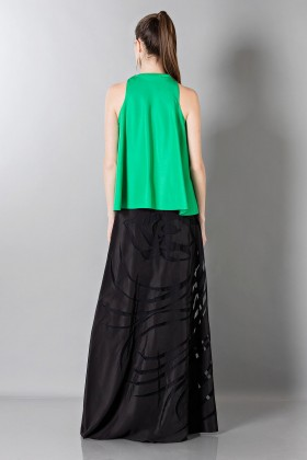 Floor-length silk skirt with pattern in contrast  - Vionnet - Rent Drexcode - 2