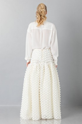 Pop-corn white skirt - Rochas - Rent Drexcode - 2