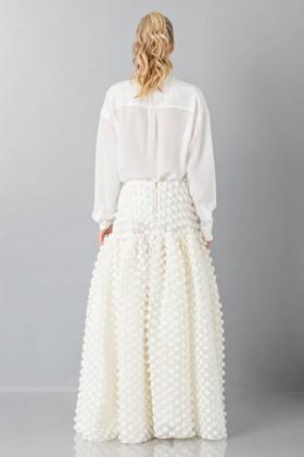 Pop-corn white skirt - Rochas - Rent Drexcode - 2