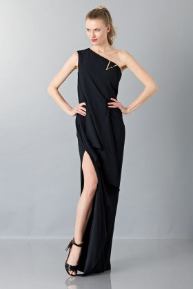 Floor-length one shoulder black dress - Vionnet - Rent Drexcode - 1
