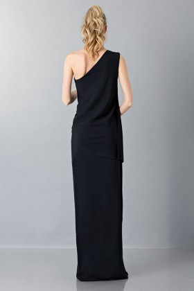 Floor-length one shoulder black dress - Vionnet - Rent Drexcode - 2