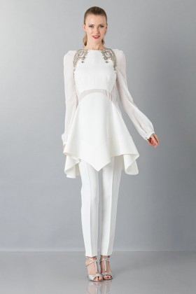 White cady trousers - Antonio Berardi - Rent Drexcode - 1