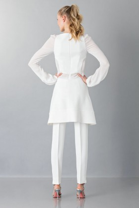 White cady trousers - Antonio Berardi - Rent Drexcode - 2