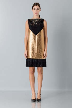 Gold short dress - Antonio Marras - Rent Drexcode - 1