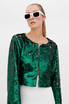 Wrap dress con paillettes mullticolori - DREX for you - Rent Drexcode - 1