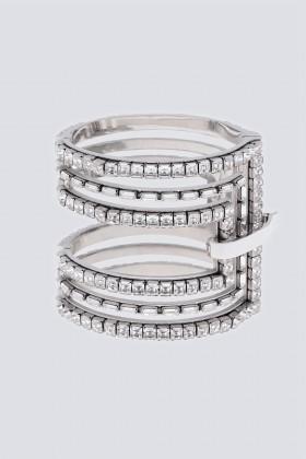 Silver cuff with rhinestones - CA&LOU - Sale Drexcode - 1