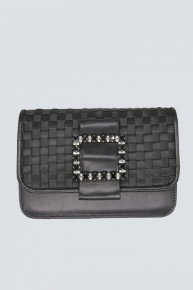 Black clutch with pompom  - Emanuela Caruso - Rent Drexcode - 1