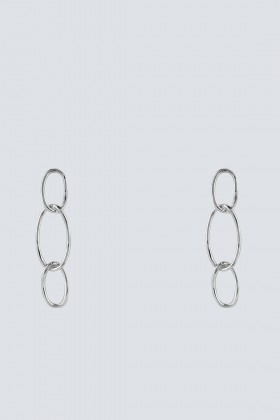 Silver earrings with oval pendants - Federica Tosi - Rent Drexcode - 1