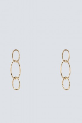 Gold earrings with oval pendants - Federica Tosi - Rent Drexcode - 1