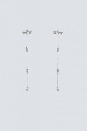 Long silver pendants with little stars - Federica Tosi - Rent Drexcode - 1