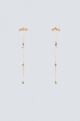 Long gold pendants with stars - Federica Tosi - Rent Drexcode - 1