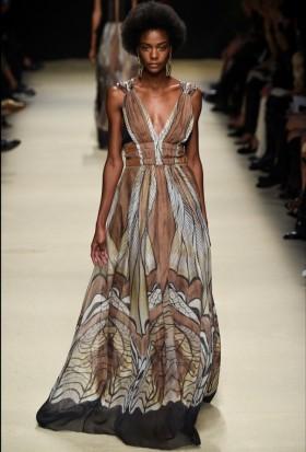 Ethinc floor-length dress - Alberta Ferretti - Rent Drexcode - 2