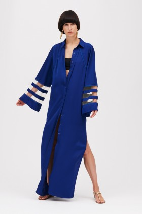 Tunica blu con inserti trasparenti - Kathy Heyndels - Rent Drexcode - 1
