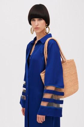 Tunica blu con inserti trasparenti - Kathy Heyndels - Sale Drexcode - 2