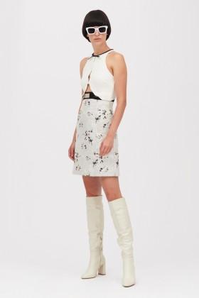 Crepe and jacquard dress with metal belt - Giambattista Valli - Rent Drexcode - 1