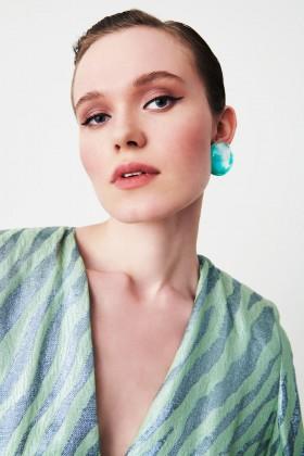 Green resin earrings - Sharra Pagano - Sale Drexcode - 1