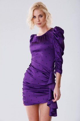 Purple polka dot dress - For Love and Lemons - Rent Drexcode - 2