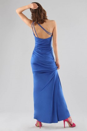 One-shoulder blue dress with details - Forever unique - Sale Drexcode - 1