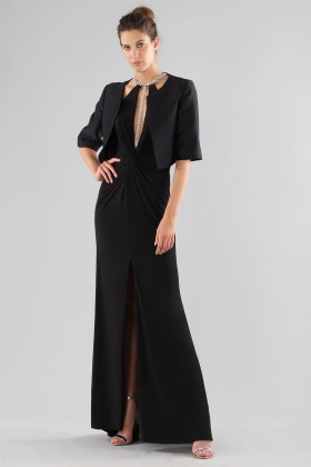 Dress with insert and jewel neck - Forever unique - Rent Drexcode - 2