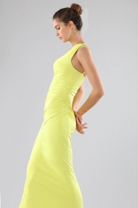 One-shoulder lime dress with details - Forever unique - Rent Drexcode - 1