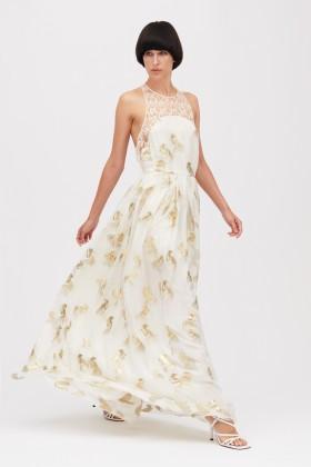 Abito con motivo floreale bianco - Genny - Rent Drexcode - 1