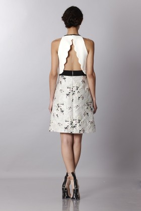 Crepe and jacquard dress with metal belt - Giambattista Valli - Rent Drexcode - 1