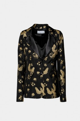 Jacket in golden print - Giuliette Brown - Rent Drexcode - 1