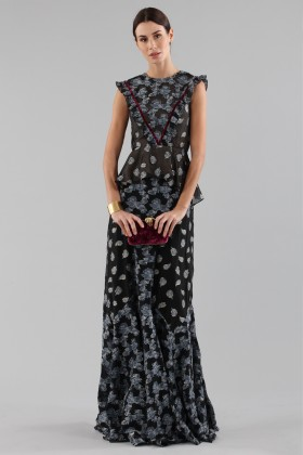 Top and skirt with brocaded pattern - Erdem - Rent Drexcode - 1