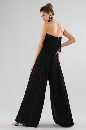Black bustier jumpsuit - Halston - Rent Drexcode - 1