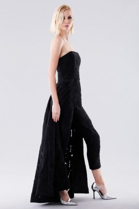 Bustier jumpsuit with overlaid skirt - Halston - Rent Drexcode - 2