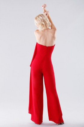 Red bustier jumpsuit - Halston Heritage - Rent Drexcode - 2
