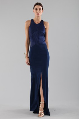 Blue dress with structured top - Halston - Rent Drexcode - 1